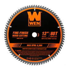 Wen Woodworking Saw Blade Miter Table 12 Inch 80 Tooth Fine Circular Cutting New
