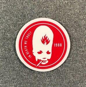 Black Label Thumhead Skateboard Sticker 2in red