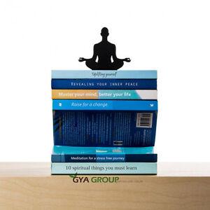 Artori-design, Levitation Book Stacker, Black metal bookend, surprising gift.