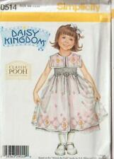 Daisy Kingdom Pooh Simplicity Sewing Pattern 0514 Girls Dress Size 5 6 6X