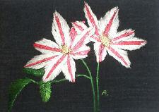 "ACEO Original ""Oriental Lily"" Silk Hand Embroidery - A Lobban"