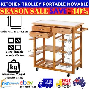 Kitchen Trolley Portable Workbench Movable Kitchen Island Storage with wheels