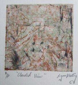 "LYNN KEATING AUSTRALIAN COLOUR INK ETCHING ""CLOUDED VIEW"" 1996 LTD ED"