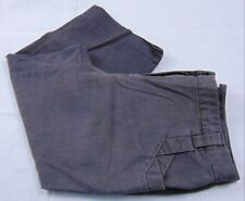 Covington Women's Dark Gray Stretch 4-Pocket Straight Leg Mid Rise Capris Size 8