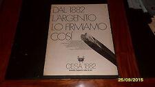 Advertising Italian Pubblicità Werbun 1976 CESA 1882 ARGENTI
