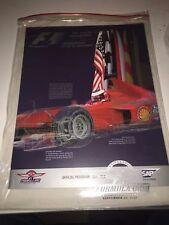 2000 Formula 1 SAP United States Grand Prix Indianapolis Official Progam
