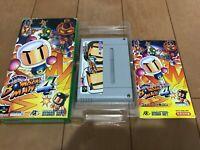SUPER BOMBERMAN 4 Japan Super Famicom SNES BOX and Manual