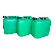 3 x 20 L Kraftstoffkanister Benzin Reserve Kanister Tank UN-Zulassung grün NEU