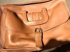 Coach Leather Briefcase Messenger Multi Pocket Brown Bag
