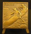 Médaille art déco Canoé bi-place sport Kayak Kanufahren c 1950 sc L Muller medal