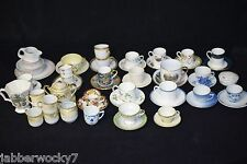 MIXED 60-Piece Lot of VINTAGE BONE CHINA TEACUPS, TEA CUPS, SAUCERS, BOWLS