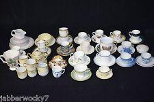 MIXED 60-Piece Lot of VINTAGE BONE CHINA TEACUPS, TEA CUPS, SAUCERS, BOWLS