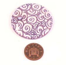 1 x púrpura Resina remolino colgante del grano para collar de pendiente de la fabricación de joyas de 45 mm