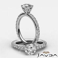 Fine Round Diamond Splendid Engagement GIA G VS2 Platinum Pave Set Ring 1.45 ct