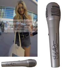 Stephanie Quayle Signed Autographed Microphone Mic Proof COA Drinking with Dolly