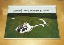 SCHWEIZER MODEL 330 TURBINE HELICOPTER TECHNICAL DESCRIPTION BROCHURE c1988