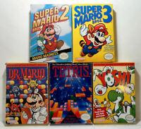 5 CIB NES Games - Super Mario Bros 2/3, Dr Mario, Tetris & Yoshi <--CQ
