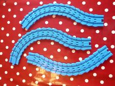 Tomy Trackmaster Thomas and Friends Blue bendy flexible crazy track x 3