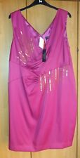 L@@K NWT SIZE 24 TEATRO PINK SEQUIN FRONTED SPECIAL OCCASION PARTY DRESS