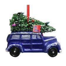 "MISSISSIPPI OLE MISS REBELS CAR VAN W/ CHRISTMAS TREE RESIN ORNAMENT 3.5"""