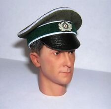 Banjoman 1:6 Scale Custom WW2 German Green Crusher Cap With Insignia