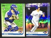 Lot (2) 2019 Topps Chrome Refractor Reese McGuire RC #6 & Series 2 RC Blue Jays