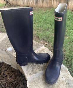 Hunter Boots Women's Original Tall Rain Boots US 9 - Purple