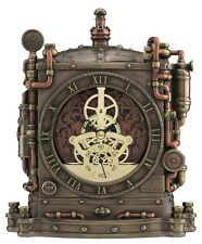 "8"" Steampunk Grand Machine Mantel Clock Home Decor Gothic Statue Collectible"