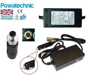 12V In car Charger for 36V 3 pin Carrera Crossfire Subway Vengeance Vulcan 2019+