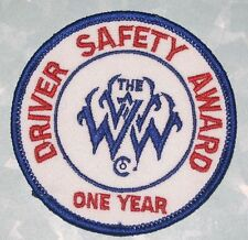 The WWW Co.Driver Safety Award One Year Patch - Trucking