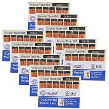 100X GAPADENT Dental Gutta Percha Points 0.06 40# Color Coded CE 60 Points/Kit