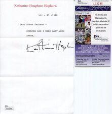 Katharine Hepburn Hand Signed Letter Spencer And I Were Lost When Apart Jsa