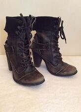 River Island High (3-4.5 in.) Lace Up Boots for Women