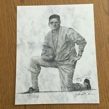 Vintage 8x10  Print Penn State Joe Paterno by David Maas Signed COA.