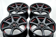 15 matt black wheels rims Miata Cooper Lancer Yaris Civic Fit Aveo 4x100 4x114.3