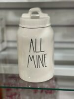 Rae Dunn Magenta ALL MINE Ceramic Canister LL Long Letters New Release 2021