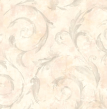 Victorian Damask Wallpaper Pink Silver Cream Vintage  Perfect for The Bathroom