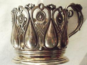 Teeglashalter, ( ohne Glass und Löffel)  Russland, 84 Silber, um 1880-1900.