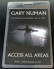 GARY NUMAN : GENUINE AAA PASS SHEPHERDS BUSH EMPIRE 15/04/2000