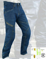 Mens Motorcycle Jeans Pants Trouser Motorbike Protective Lining with CE Armour