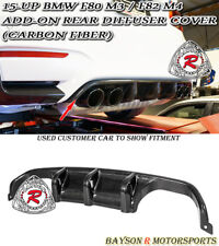 MP-Style Add-on Rear Diffuser Cover (Carbon) Fit 15-18 BMW F80 (M3) F82 F83 (M4)