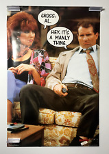 Married With Children Poster 23 x 35  TV Series Al It's A Manly Thing NOS 1987