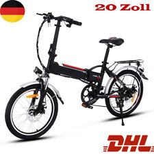 "20"" Electric Mountain Bike Folding E-MTB Bicycle Rechargeable Li-Ion Battery UK"