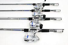 Lot of 4 Daiwa Shock 1500-2B Spin Fishing Reels, 5.6ft Rods NEW