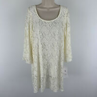 Sole Dion Studio Lace Top Tunic Size XL BOHO Romantic Bell Sleeve Scoop NWT
