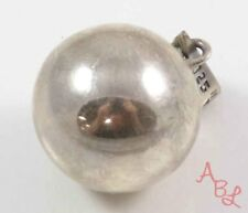 "Sterling Silver Vintage 925 Mexican Large Ball ""Chimes"" Pendant (11.2g) - 745536"