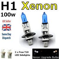 H1 100w SUPER WHITE XENON (448) Head Light Bulbs 12v + 501 LED Sidelights A