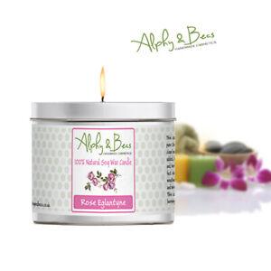 Alphy&Becs Candles Rose Eglantyne 200gr Eco Soy HandMade In UK