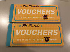Lot 2 book Vouchers For Friends from Knock Knock novelty gift New