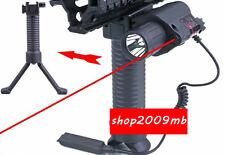 CREE LED Flashlight&650nm Red Laser Sight+Foregrip Vertical Bipod 4 Hunting Set